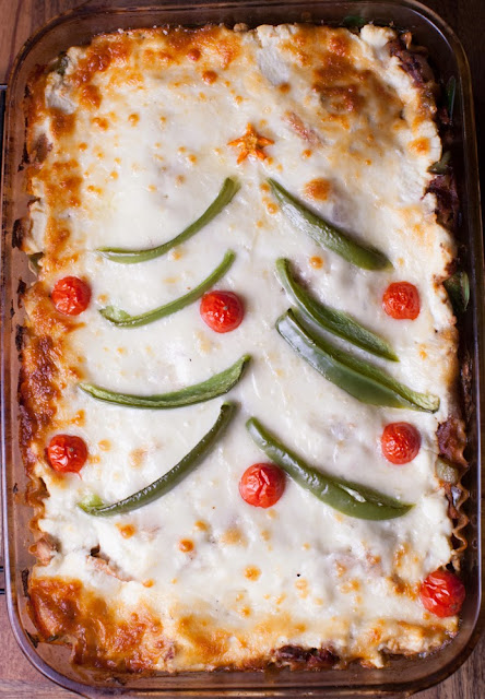 Make ahead vegetarian lasagna for Christmas dinner