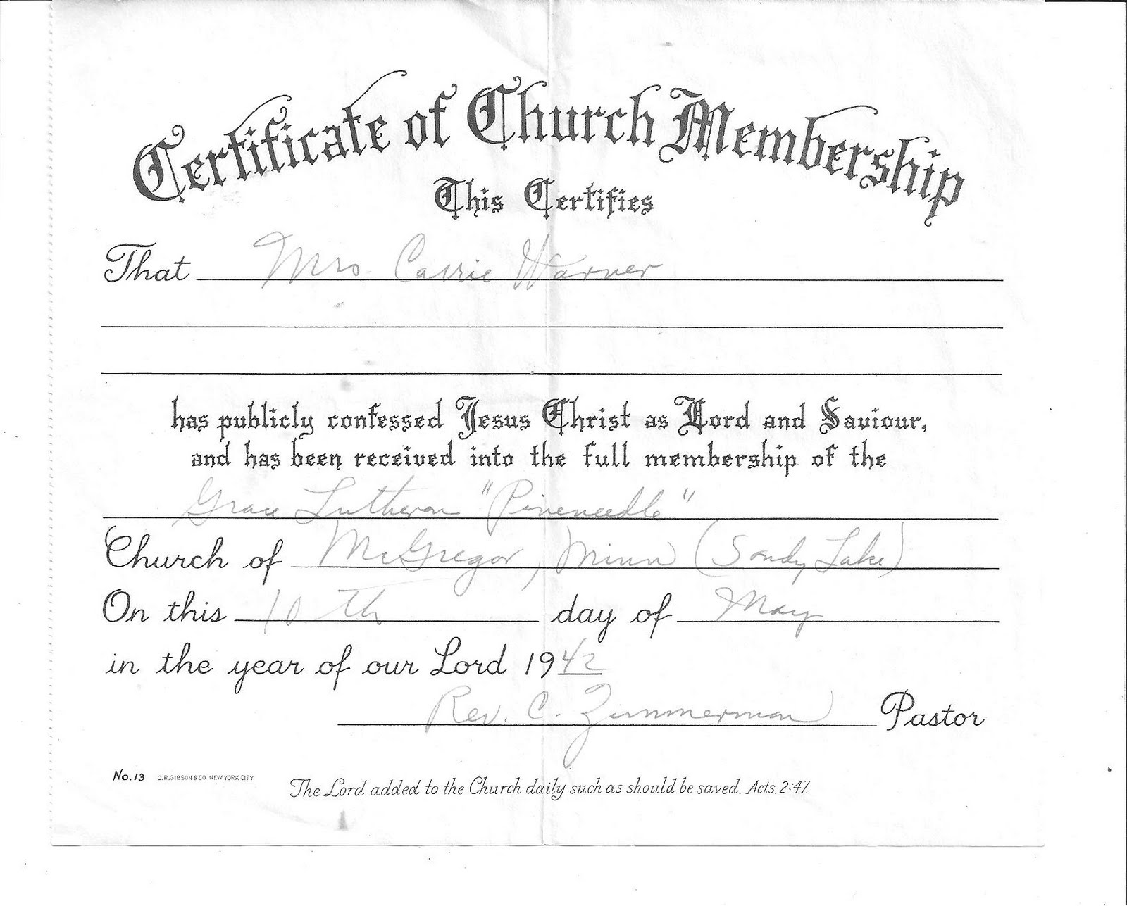 Free Church Membership Certificate Templates Pictures