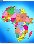 Map of Africa Region and CountryAfrica, second largest continent of the .