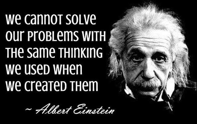 Albert Einstein thinking quote