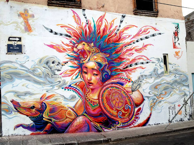 Street Art By Kenta Torii In Queretaro , Mexico For The Board Dripper Festival. 1