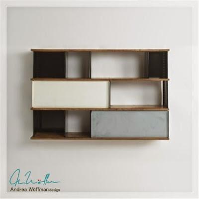 bibliotecas de diseño-arte en metal y madera