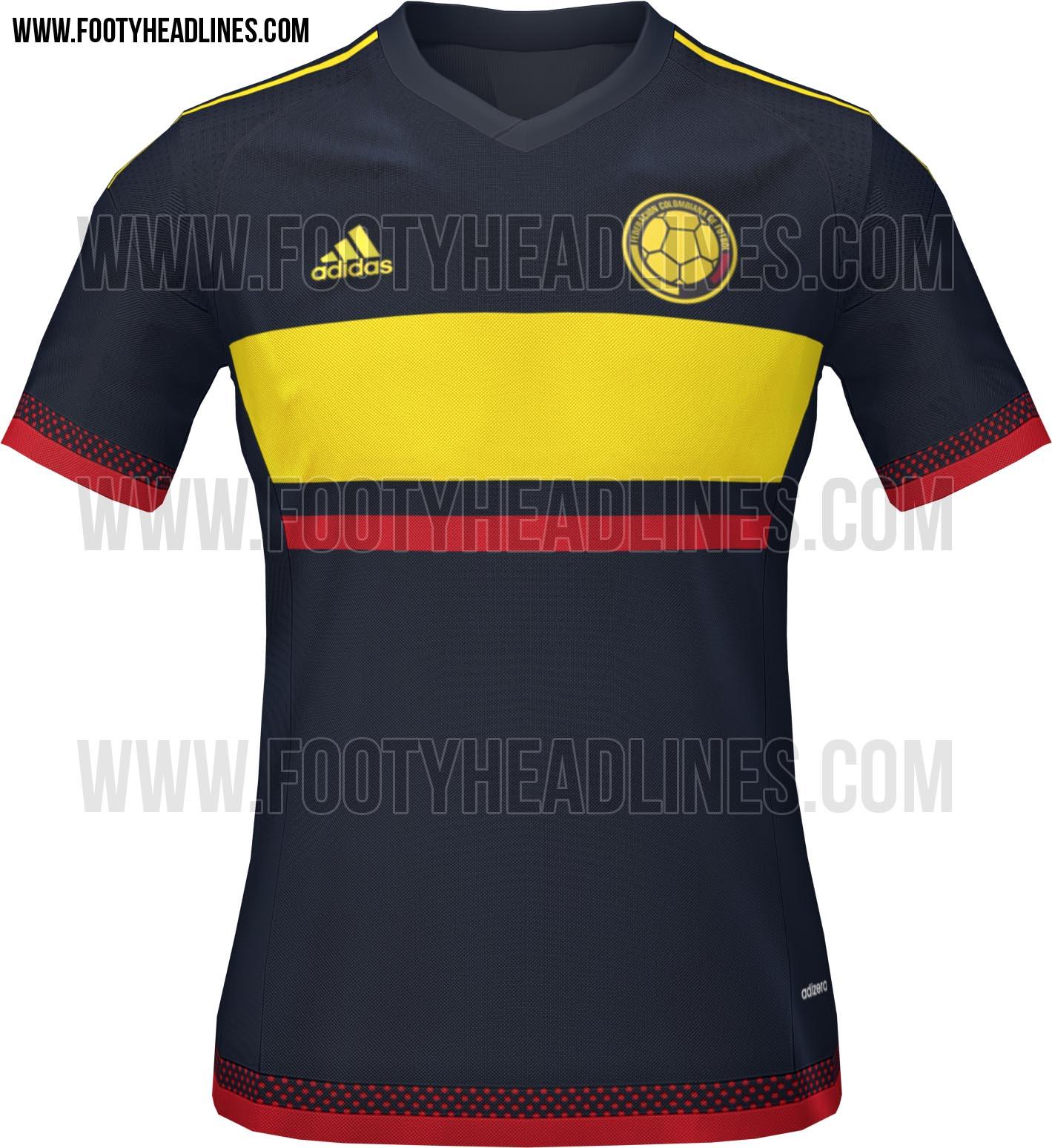Colombia 2015 copa am rica kits revealed footy headlines for Cuarto kit del america