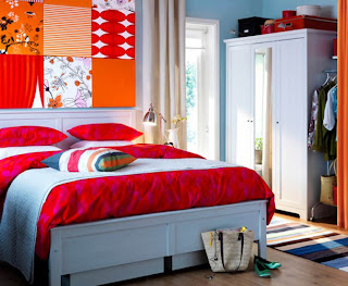 Beauty of colorful bedroom design