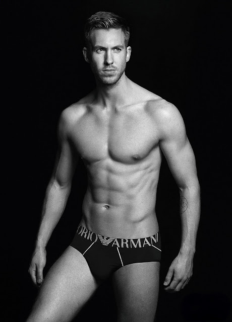 Calvin Harris Shirtless Sexy in New Armani Underwear Ad!