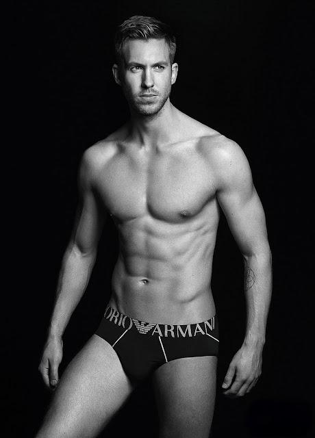 Calvin Harris Shirtless Sexy in New Armani Underwear Ad!