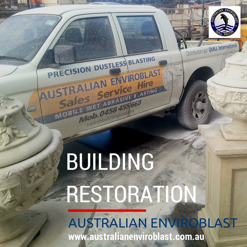 The Quill Falcon Kwikblast Dustless Blasting System is ideal for restoration and renovation projects