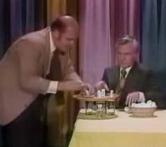 Johnny Carson and Dom DeLuise