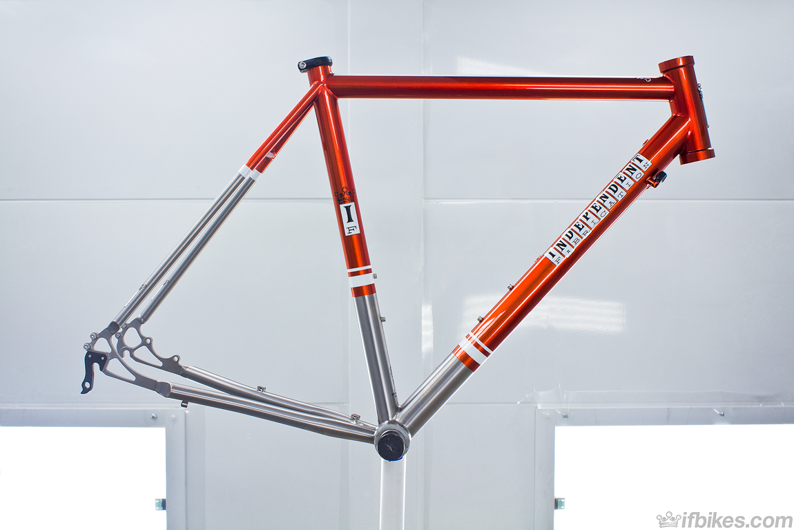 this titanium gravel royale frame looks good enough to eat paint inspiration here comes from our nahbs 14 best finish award winner