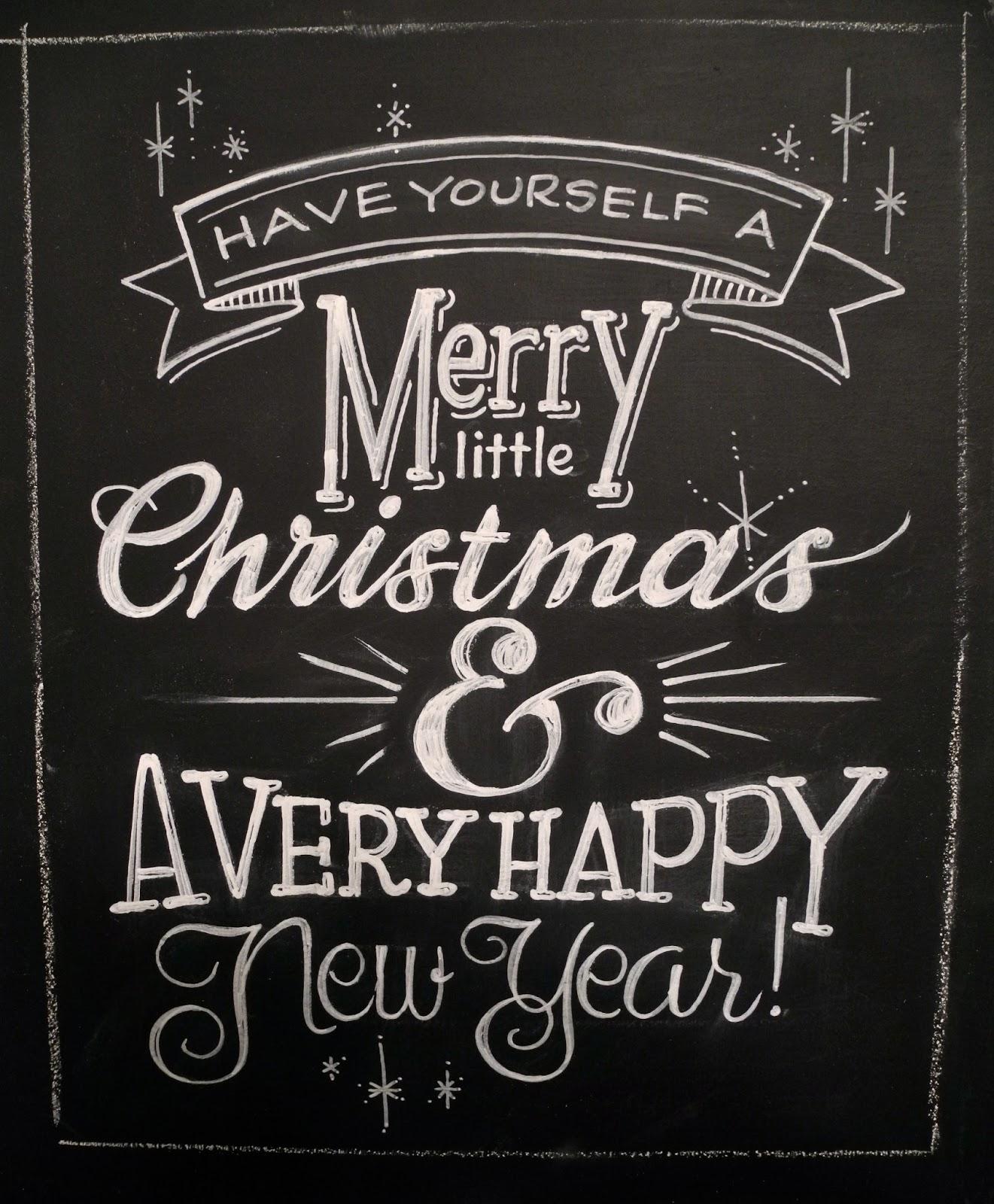 Seaglasssundays chalkboard christmas card Chalkboard typography