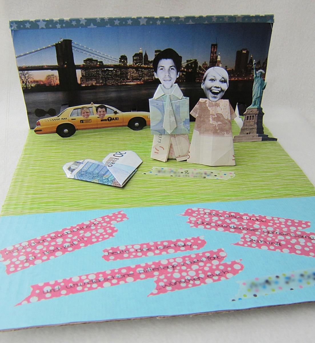 New York City Geldgeschenk Hochzeit