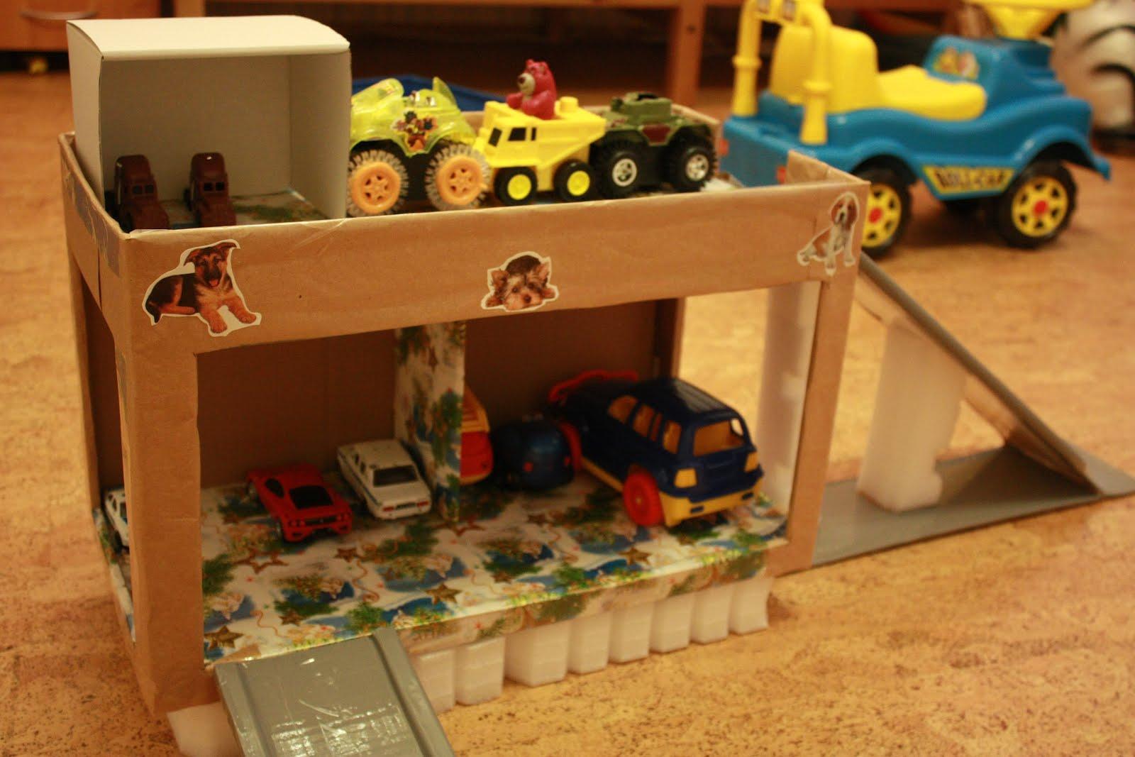 Как сделать своими руками детский гараж для машинок своими руками