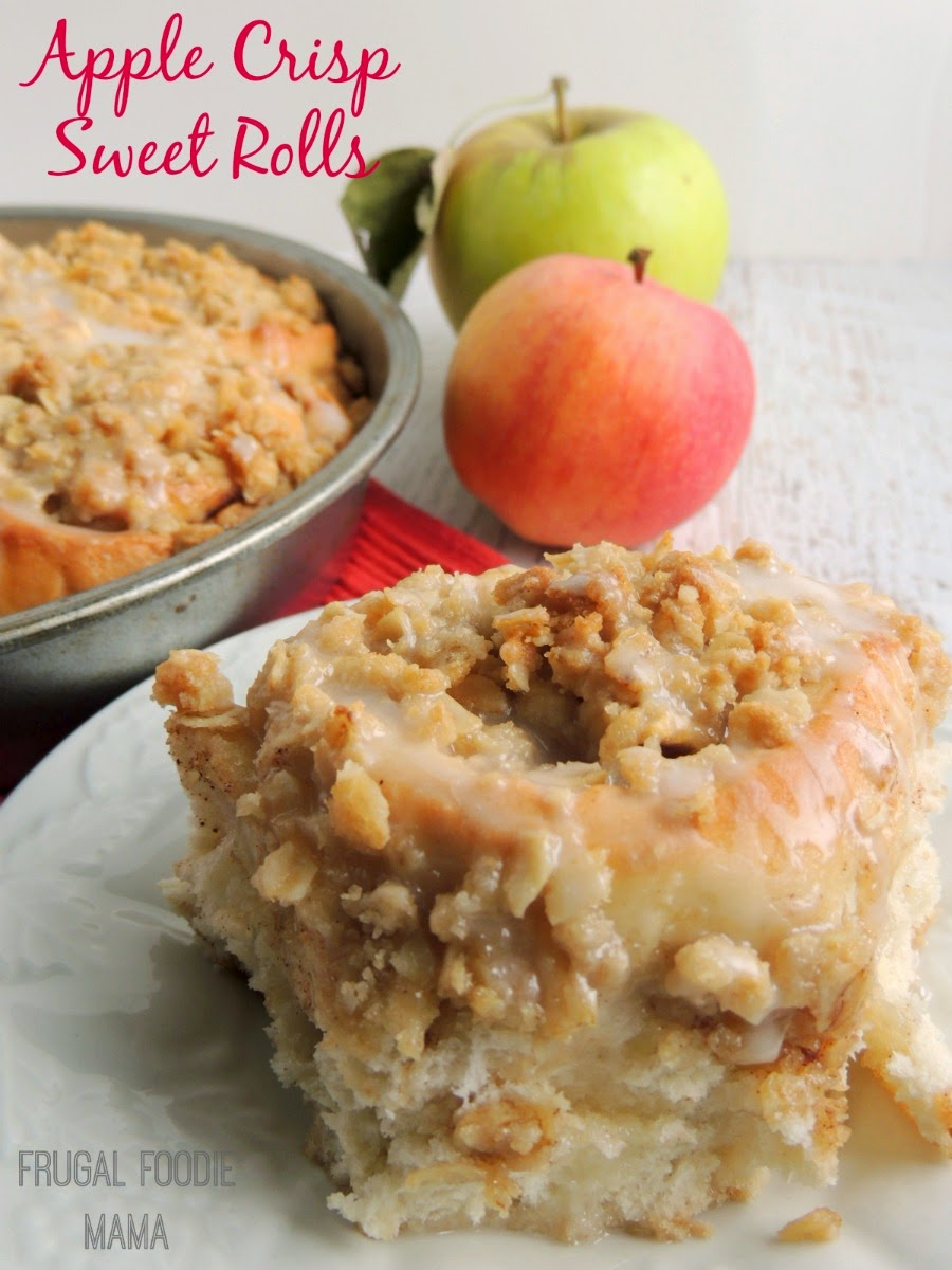 Apple Crisp Sweet Rolls are what happens when fluffy homemade cinnamon ...
