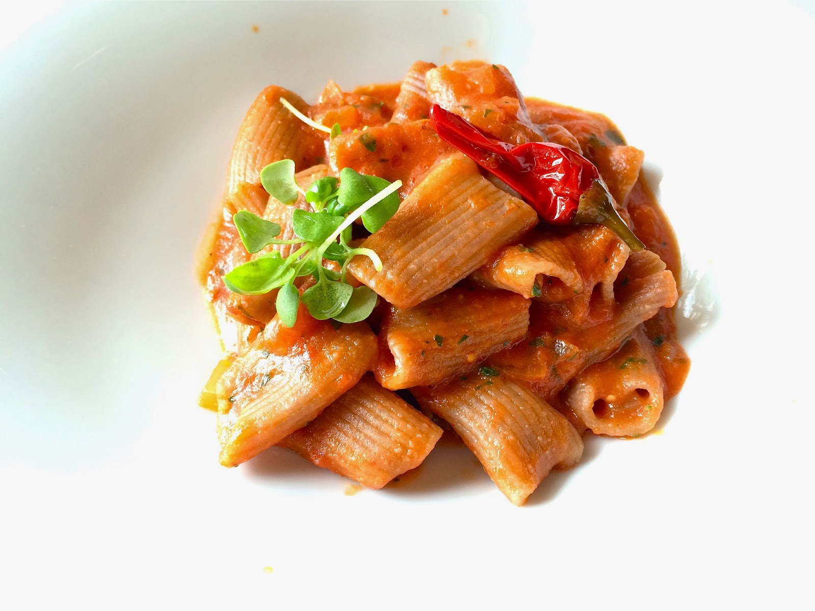 Rigatoni pasta with pepper at Andrea at The Resort at Pelican Hill