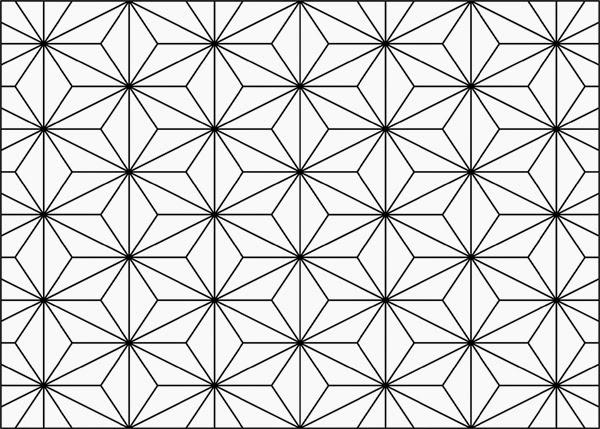 Asanoha, Asa-no-ha, γιαπωνέζικο μοτίβο, γιαπωνέζικο πατερν, γεωμετρικό διακοσμητικό σχέδιο, διακοσμητικό σχέδιο, γεωμετρικό σχέδιο