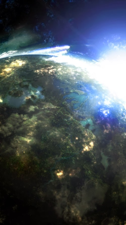iPhone 5 HQ Wallpapers: Lights From Outer Space iPhone 5 ...