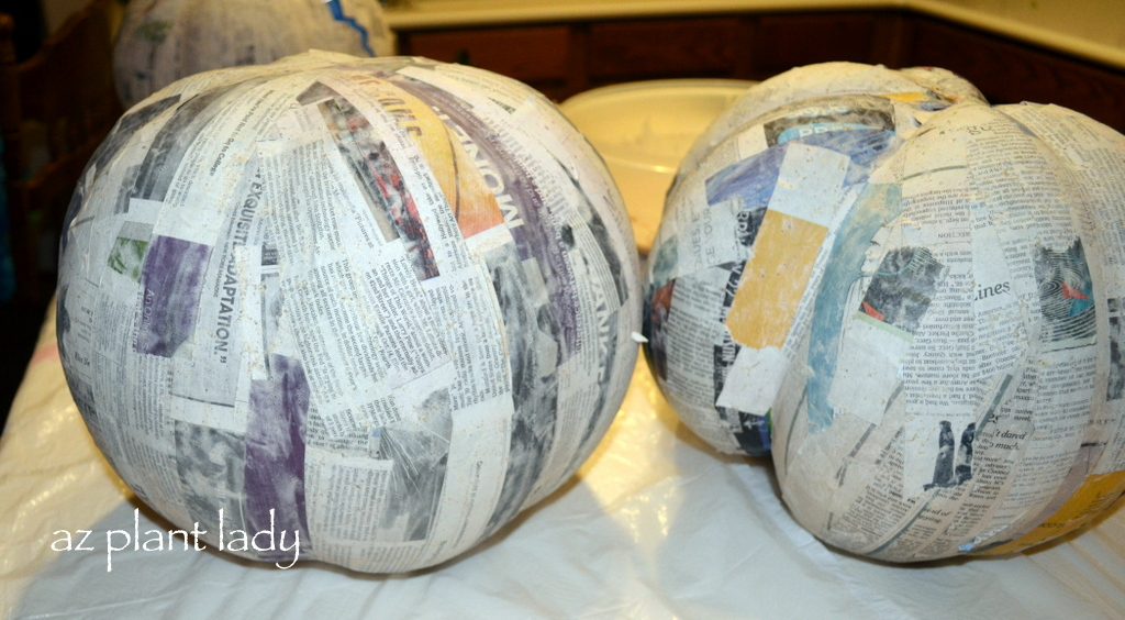 how to make your own paper mache pumpkin ramblings from
