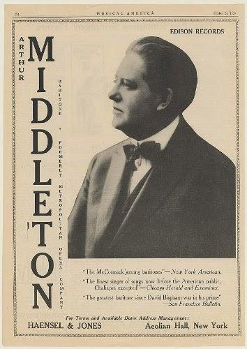 GREAT AMERICAN BARITONE ARTHUR MIDDLETON (1880 - 1929) CD