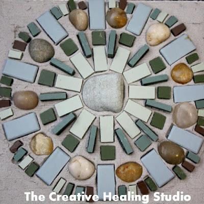 healing mosaic mandala earthy