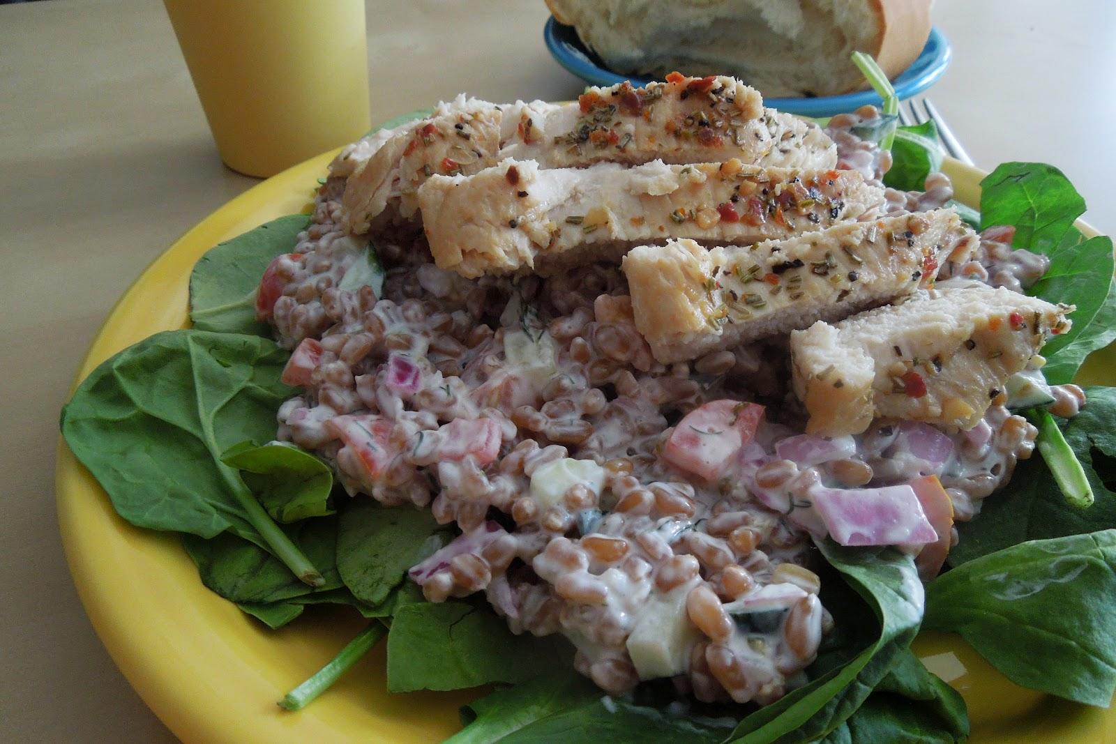 The Spatularettes: Greek Wheat Berry Salad