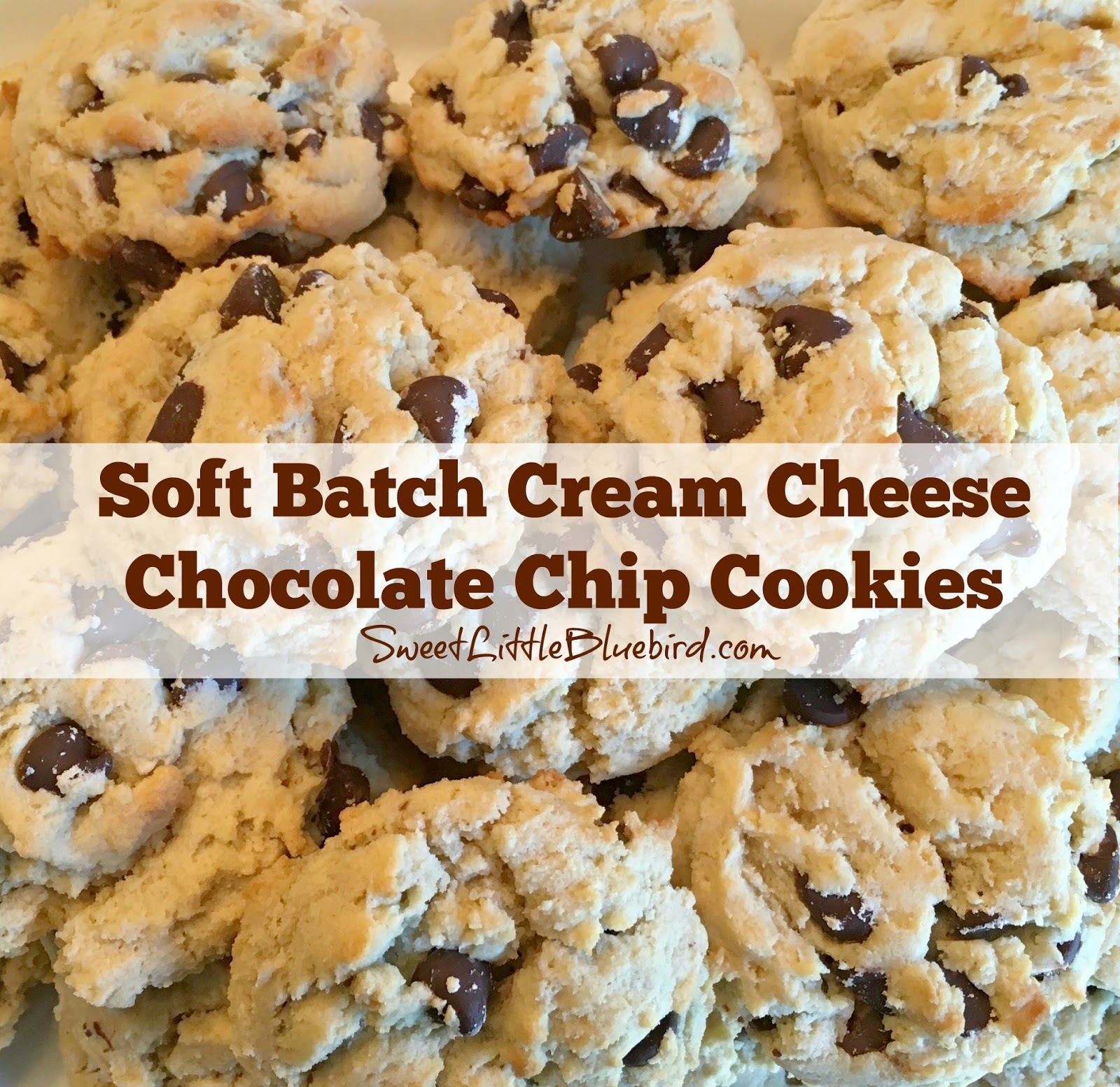 Sweet Little Bluebird: Soft Batch Cream Cheese Chocolate Chip Cookies