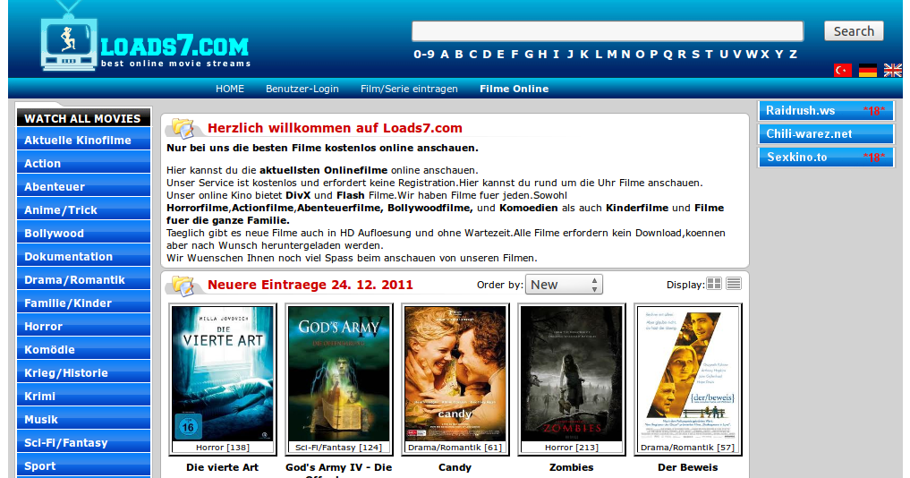Loads7.com ~ Watch Movies Online 24/7
