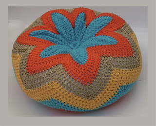 Almohadones al crochet - Flor y ondas!
