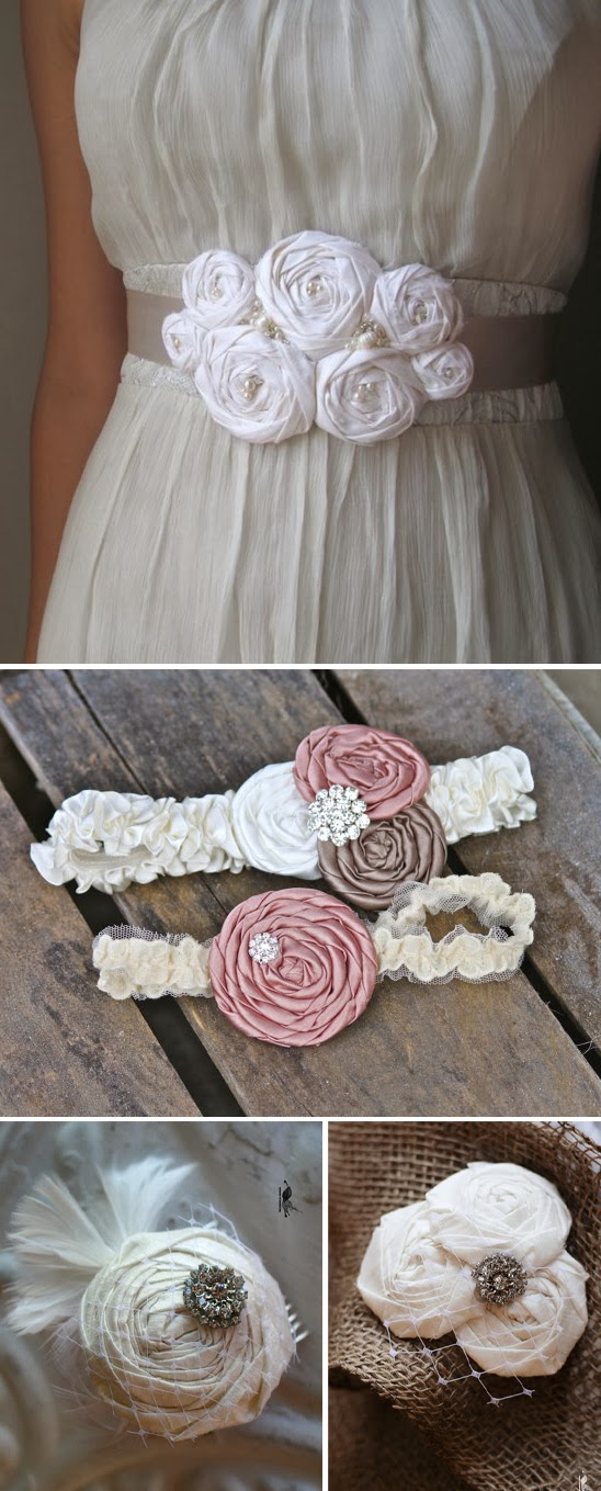 http://blog.myweddingreceptionideas.com/2012/01/diy-fabric-rosette-accessories.html