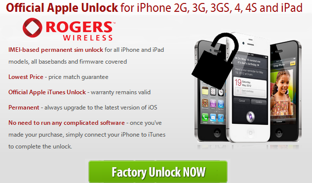 Unlock Rogers iPhone 4S