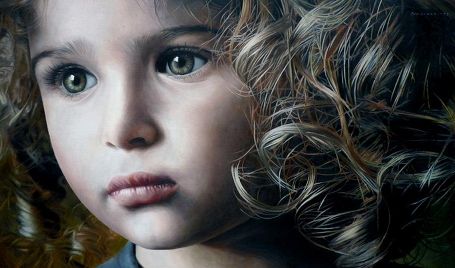 Im 225 Genes Arte Pinturas Dibujos Rostros Bebes Y Ni 241 Os A