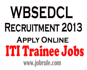 WBSEDCL Recruitment of 498 numbers ITI Trainee, Pharmacist and Nurse 2013