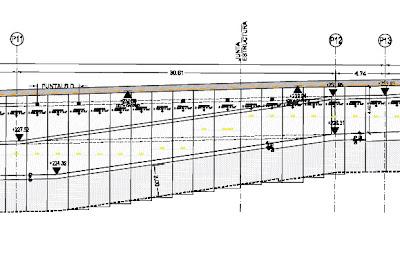 pantalla en rampas o forjados inclinados