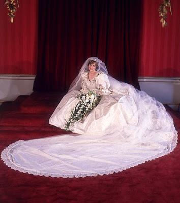 princess diana wedding dress train. Princess Diana of Wales -