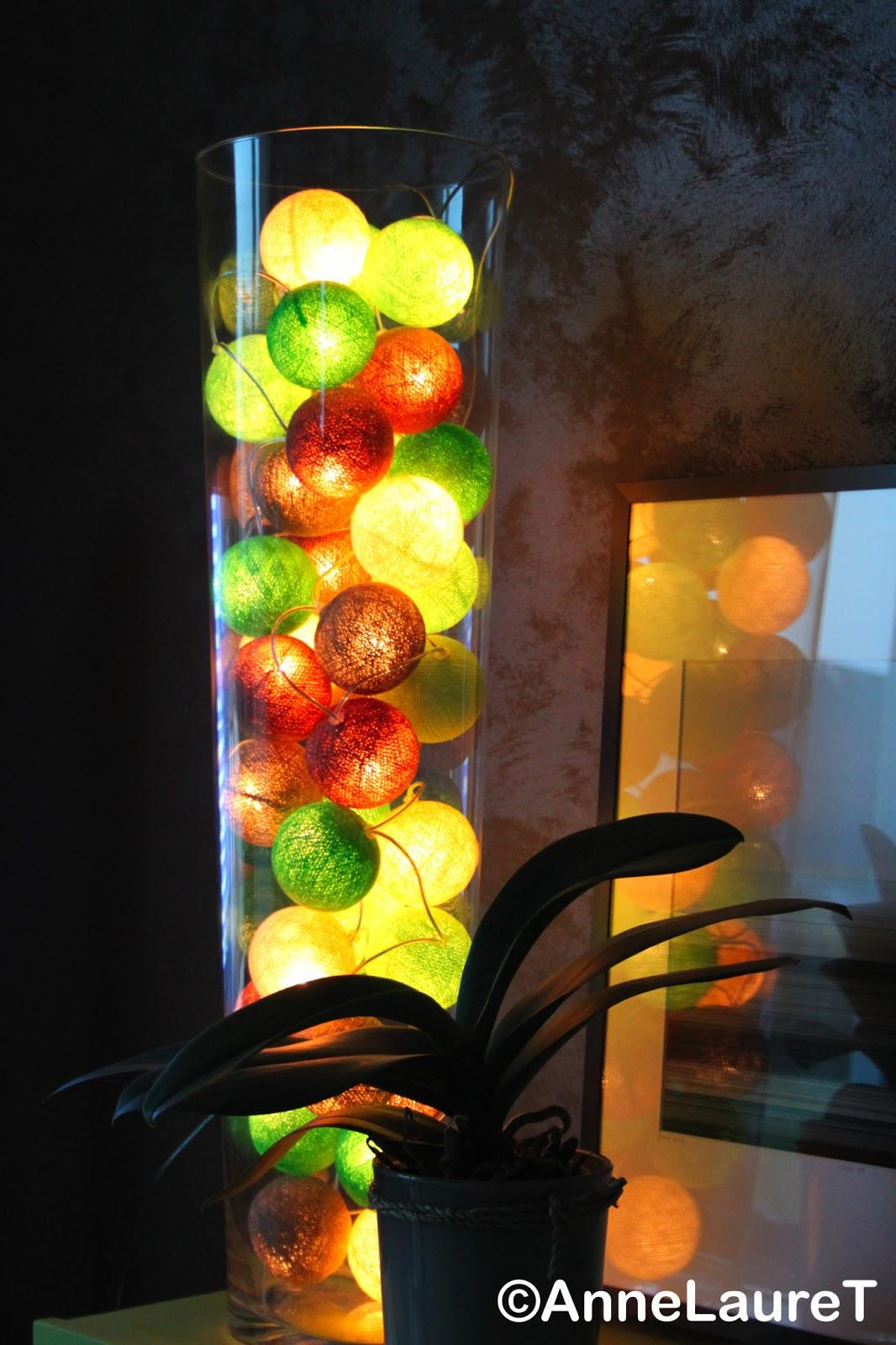 quant moi jai dj des tonnes dides dautres endroits de la maison o installer ces grappes de boules de coton color guirlande offerte - Guirlande Boules Colores