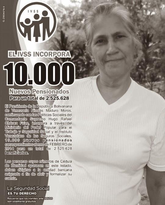 Misión Amor Mayor: Lista de pensionados Amor mayor y IVSS (02/02/2014