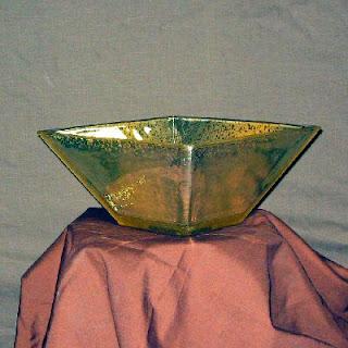 Harvest Gold Mercury Glass Bowl
