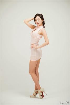 Hye Ji Sexy Korean Model in White