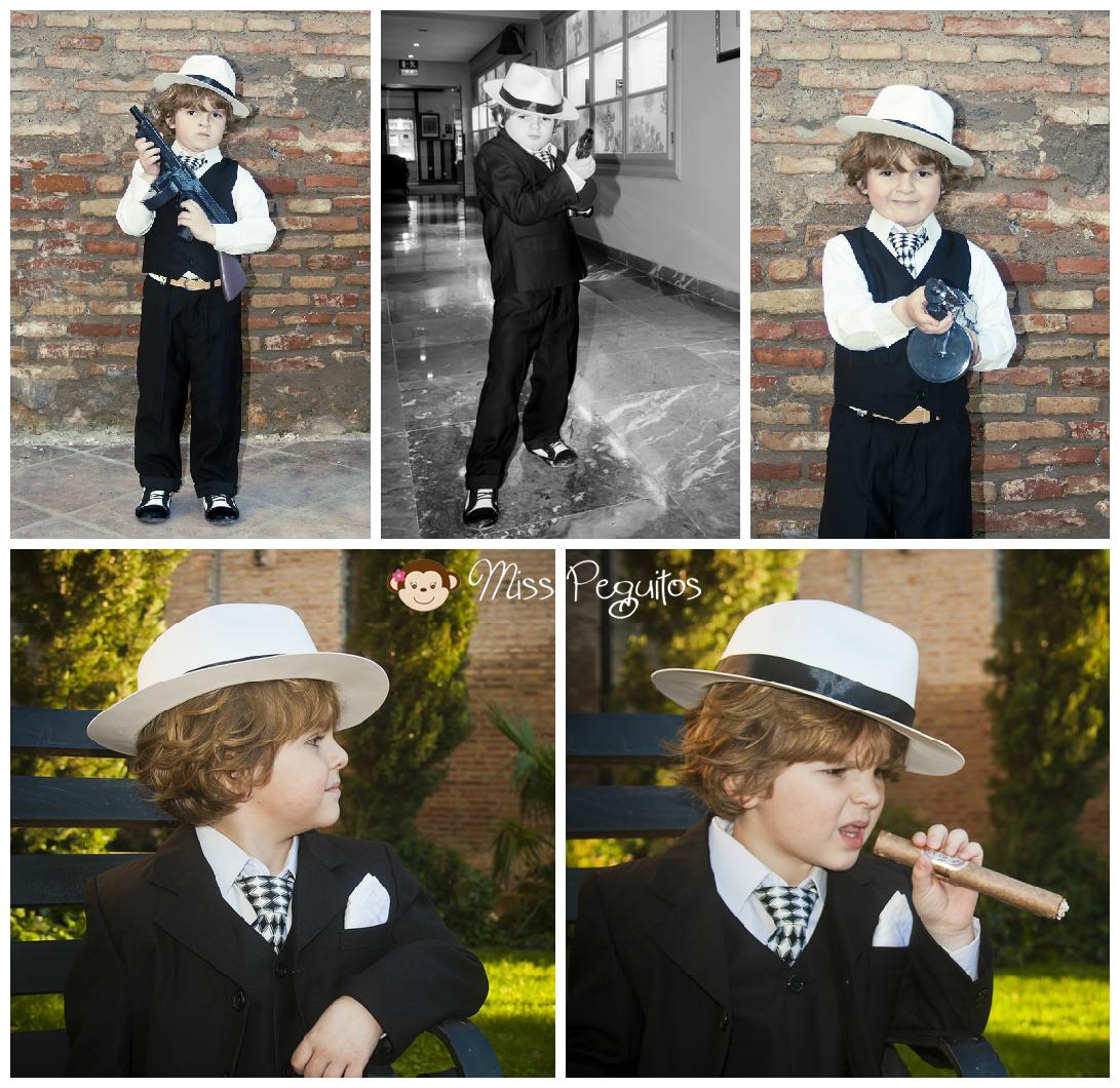 diy disfraz casero niño gangster mafioso custome