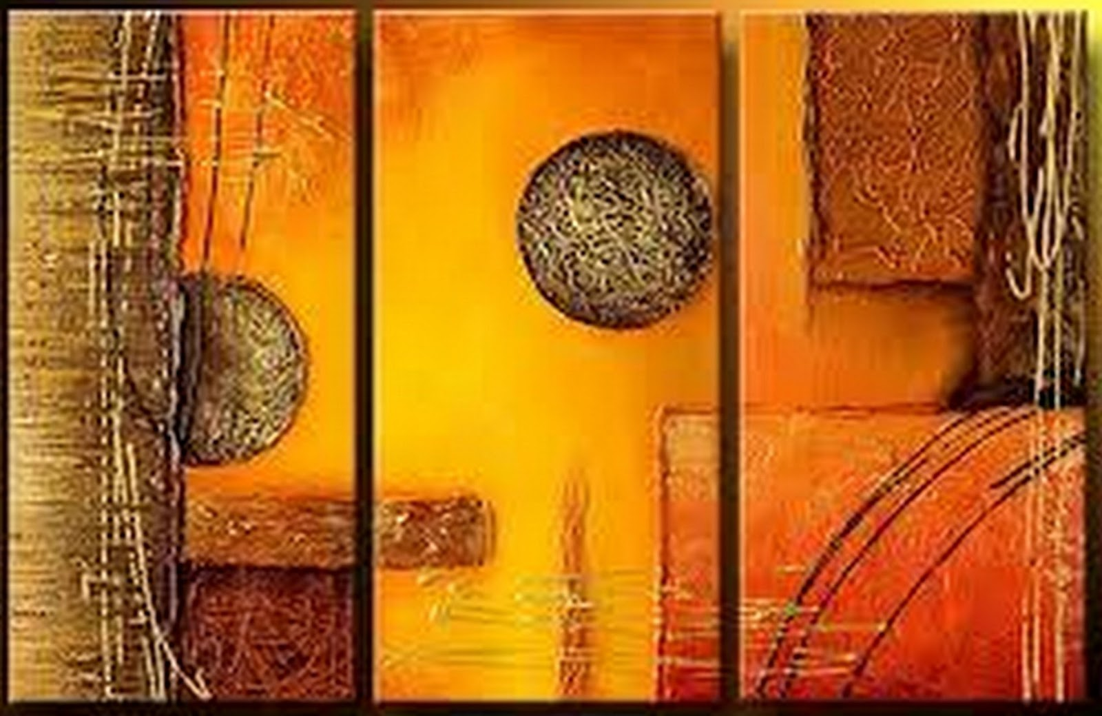 Cuadros pinturas oleos tr pticos de pintura - Cuadros decorativos para cocina abstractos modernos ...