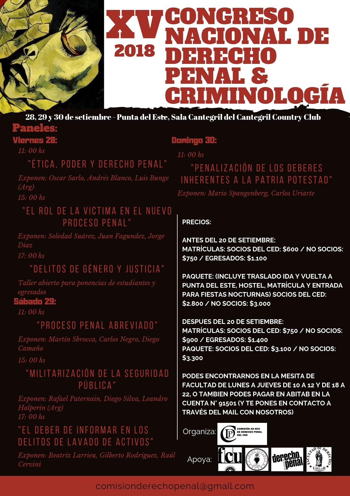 XV Congreso Nacional de Derecho Penal & Criminología
