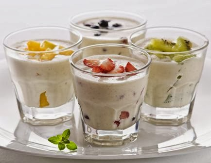 Yogurt natural bajo en grasa