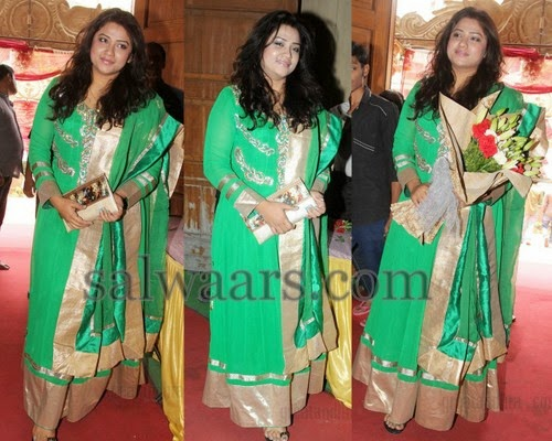 Jyothireddy Green Salwar Kameez
