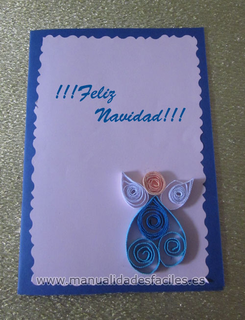 Manualidades tarjeta de navidad en filigrana - Tarjetas de navidad faciles ...