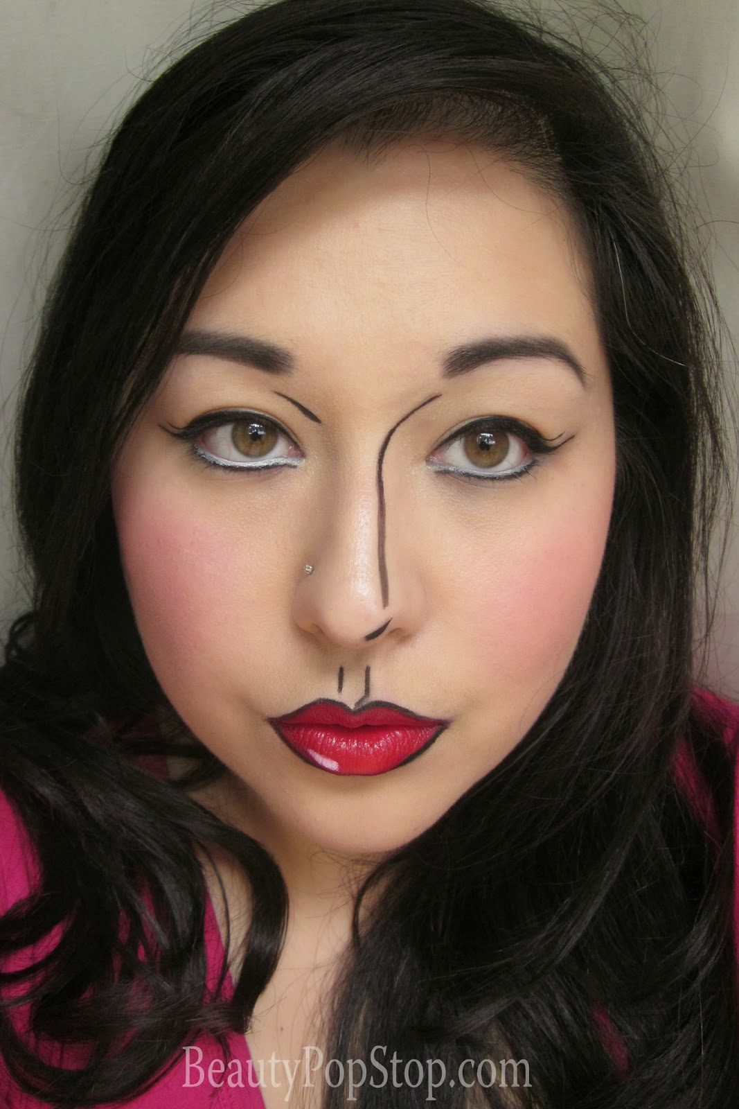 BeautyPopStop: Halloween Pop Art Lichtenstein Inspired Makeup Look