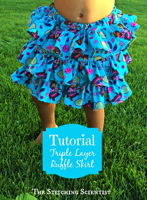 Free tutorial for layered skirt
