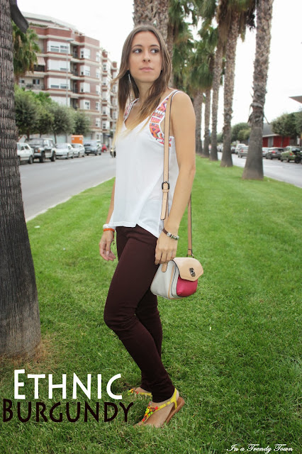 Ethnic Burgundy Outfit