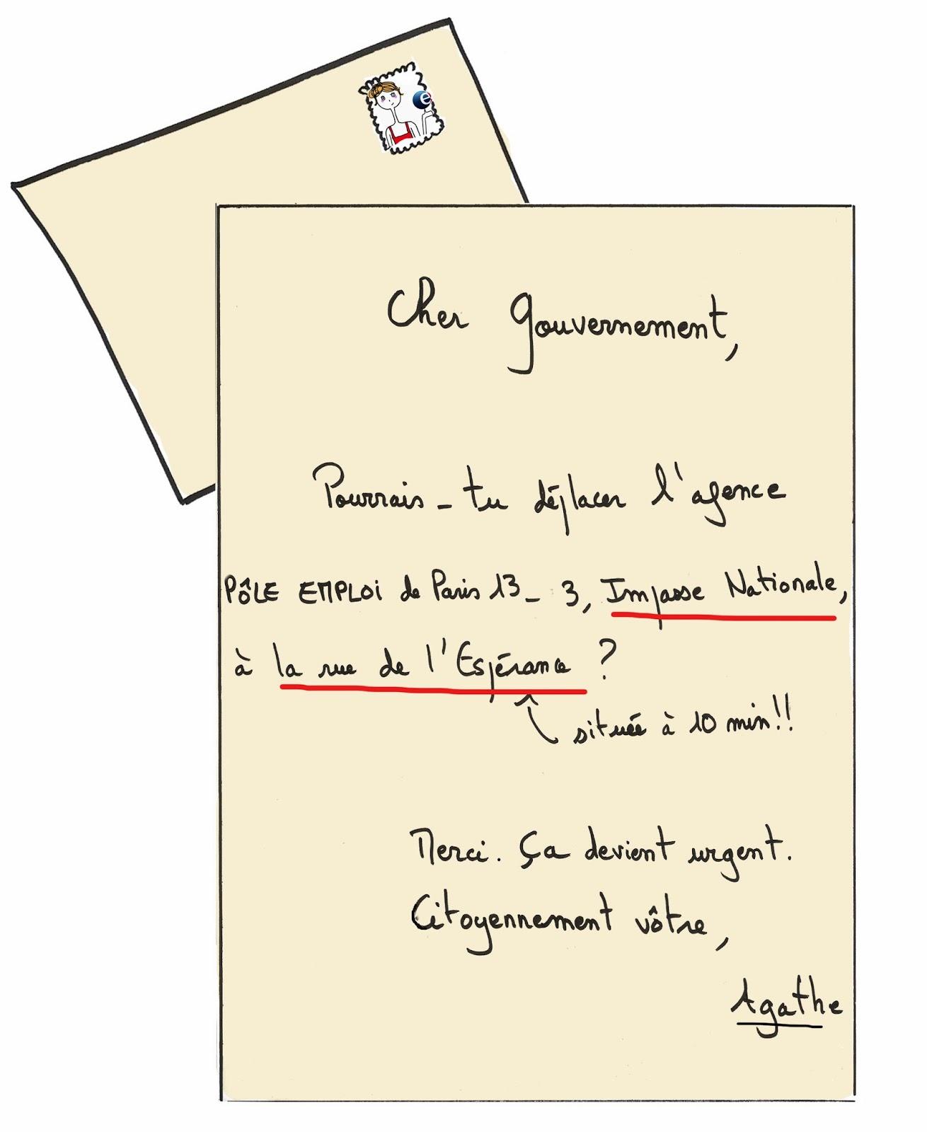 Lettre au Gouvernement, chômage
