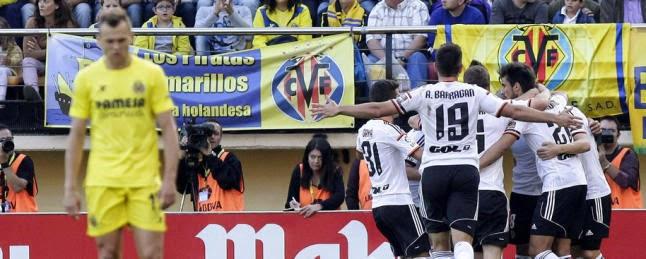 Villarreal Valencia 1-3, filmato gol e highlights Liga Spagna