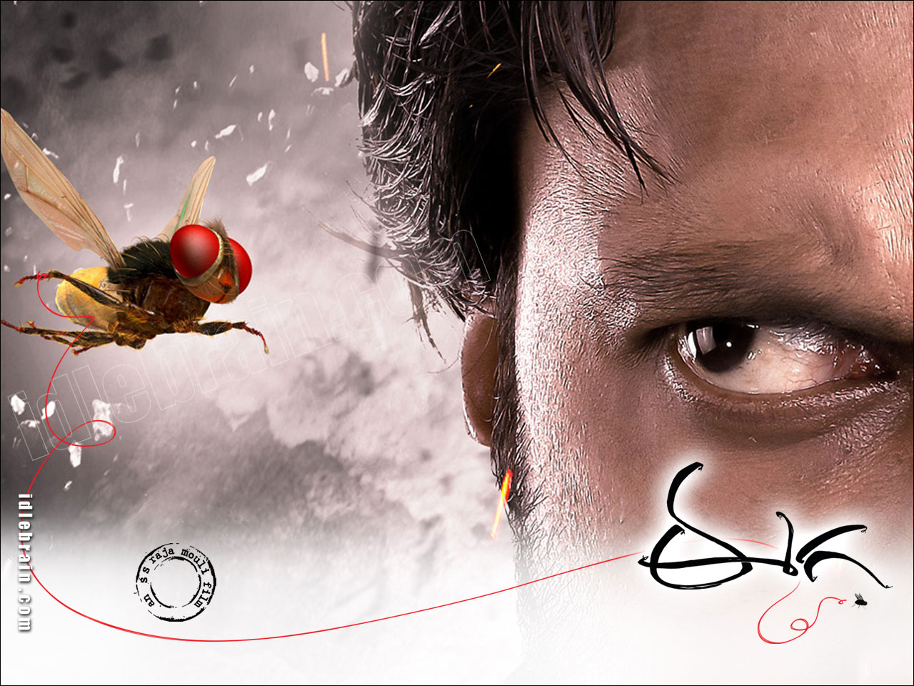 idlebraingallery eega wallpapers   sudeep nani and samantha