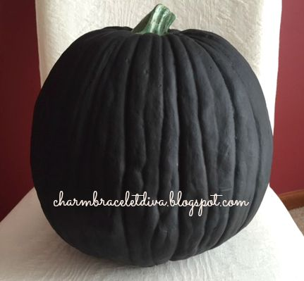 Large faux pumpkin painted with chalkboard paint